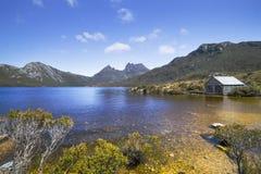 Łódkowaty dom, Kołysankowy Halny Tasmania zdjęcie stock