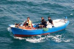 łódkowaty fisher Obraz Stock