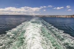 Łódkowaty kilwater Obraz Royalty Free