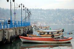 Łódkowaty molo w Istanbuł Zdjęcie Royalty Free