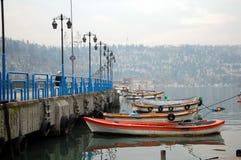 Łódkowaty molo w Istanbuł Obraz Stock