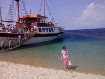 łódkowaty piękno wycieczki lata toroni zdjęcia stock