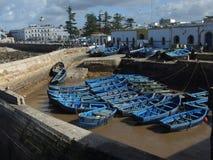 łódkowaty połowu dziewczyny portu obsiadanie Zdjęcia Stock