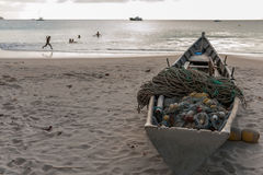 Łódkowaty połowu morze Fotografia Stock
