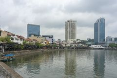 Łódkowaty Quay przy moring godzinami obrazy stock