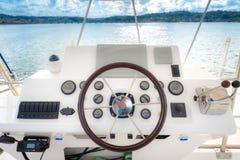 Łódkowaty rudder i panel zdjęcie royalty free