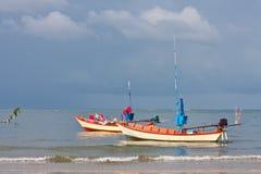 łódkowaty rybołówstwo obraz royalty free