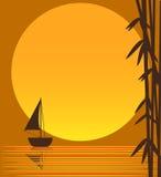 łódkowaty słońce ilustracji