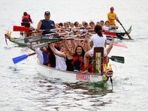 łódkowaty smoka festiwalu jezioro Zurich fotografia royalty free