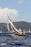 łódkowaty stary żeglowanie zdjęcie stock