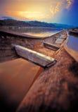 łódkowaty stary zmierzch Fotografia Stock