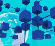 Łącząca sieć Znaczy Komputerowych partnerów I Kolaboruje ilustracja wektor