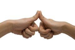 łączący kciuki zdjęcie stock