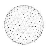 Łączący kuli ziemskiej sieci abstrakt Fotografia Stock