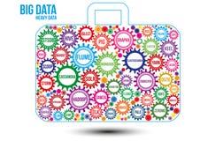 Łączę barwił duże dane technologii przekładnie Obrazy Stock