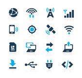 Łączliwość ikon lazur serie Zdjęcia Royalty Free