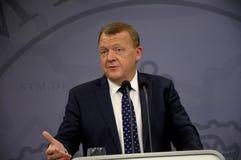ŁĄCZNA konferencja prasowa PM I minister edukacji Obrazy Stock