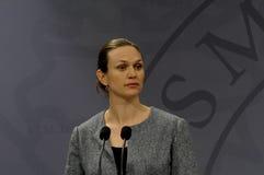 ŁĄCZNA konferencja prasowa PM I minister edukacji Obraz Stock