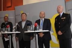 ŁĄCZNA prasa CONFERENCE_PROTACT DENMRK Zdjęcie Stock