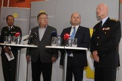 ŁĄCZNA prasa CONFERENCE_PROTACT DENMRK Zdjęcia Stock