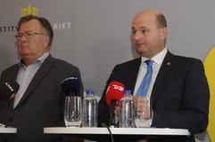 ŁĄCZNA prasa CONFERENCE_PROTACT DENMRK Obrazy Stock