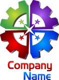 Łączny przekładnia logo ilustracji