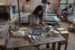 Łączyć ołowianego folii i bambusa papier Fotografia Royalty Free