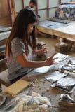 Łączyć ołowianego folii i bambusa papier Obrazy Stock