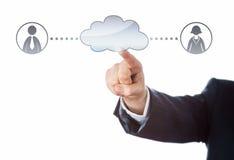 Łączyć Z Dwa urzędnikami Przez chmury Obrazy Stock