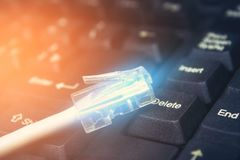 Łączy internet, komputer Obrazy Stock