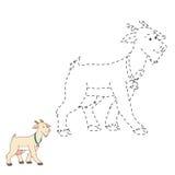Łączy kropki (kózka) ilustracji