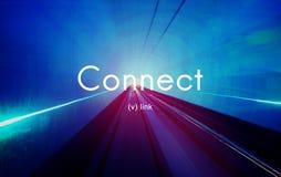 Łączy Kulisowego komunikacja kontaktu sieci pojęcie Fotografia Stock