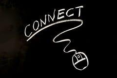 Łączy słowo i mysz symbol zdjęcie stock