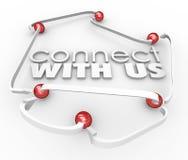 Łączy Z My strzała piłki połączenie Komunikuje Kontaktowego Informatio ilustracji