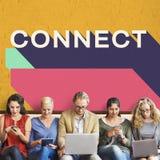 Łączy związku kontakt Łączy sieć socjalny pojęcie zdjęcia royalty free