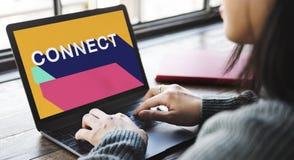 Łączy związku kontakt Łączy sieć socjalny pojęcie obrazy stock