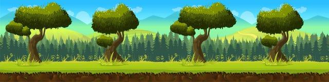Łąka i las, natura krajobraz, wektorowy tło Zdjęcie Royalty Free