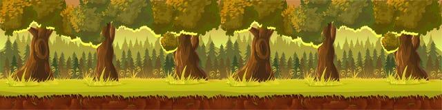 Łąka i las, natura krajobraz, wektorowy tło Fotografia Royalty Free