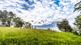 Łąka i niebo Zdjęcia Royalty Free