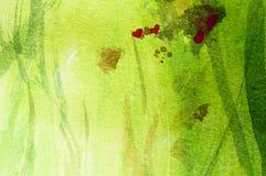 Łąka z sercami, abstrakcjonistyczny obraz ilustracji