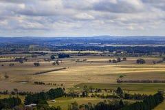 Łąki i paśniki Australia w zimie zdjęcie royalty free