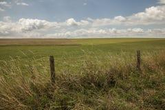 Łąki Salisbury równina ogrodzenie -/ obrazy stock