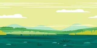 Łąki tła Gemowy krajobraz ilustracja wektor