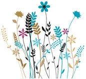 Łąkowa trawa Ilustracji