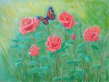 Łąkowe róże Obraz Stock