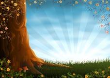 łąkowy lato royalty ilustracja