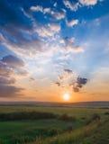 łąkowy zmierzch Zdjęcie Royalty Free