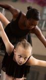 łęków baletniczy ucznie dwa obrazy royalty free