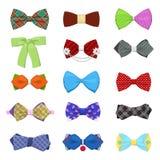 Łęków krawaty Ustawiający dla świętowania i przyjęcia Mężczyzna moda ilustracji