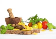 Łęków pomidory i makaron Fotografia Stock
